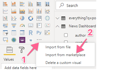 Import a visualization from the marketplace in Power BI