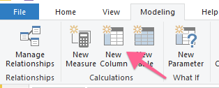 New calculated column in Power BI